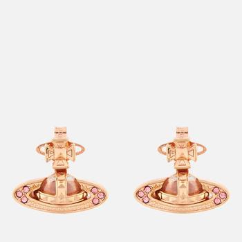 商品Vivienne Westwood Women's Pina Bas Relief Earrings - Pink Gold Light Rose图片