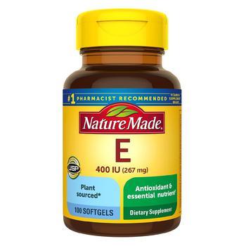 商品Plant Sourced Vitamin E 400 IU (267 mg) d-Alpha Softgels图片