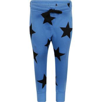 商品Star print track pants in blue图片