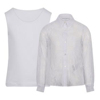 商品ERMANNO SCERVINO KIDS - Shirt, White, Girl, 4 yrs图片