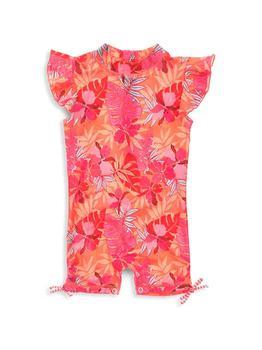 商品Baby Girl's Tropical Punch Tropical Punch Flutter Sleeve Sunsuit图片
