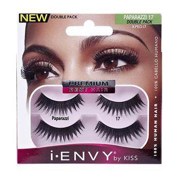 商品Kiss I Envy Premium Remi Hair Paparazzi 17 Double Pack Eye Lashes, 1 Ea图片