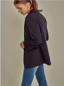 商品Pin Stripe Pattern Jacket Navy图片