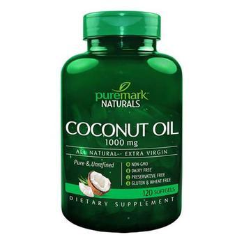商品21st Century Puremark Naturals 1000 Mg Coconut Oil Softgels, 120 Ea图片