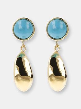 商品Drop Earrings With Turquoise Gemstone图片