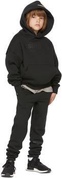 商品Kids Black Fleece Pullover Hoodie图片