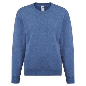 商品Fruit Of The Loom Childrens Big Boys Set in Sleeve Sweatshirt (Heather Royal)图片