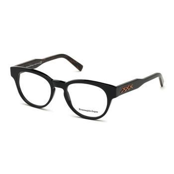 商品Ermenegildo Zegna Mens Black Aviator/Pilot Eyeglass Frames EZ517400152图片