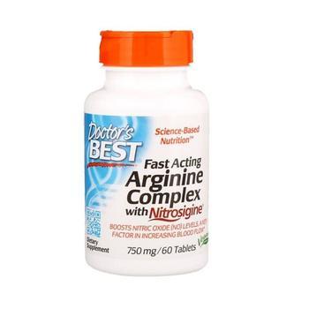 商品Doctors Best Fast Acting Arginine Complex with Nitrosigine Tablets, 60 Ea图片