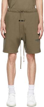 商品Taupe Fleece Shorts图片