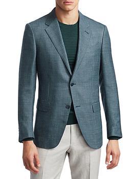 商品Plaid Linen-Blend Jacket图片