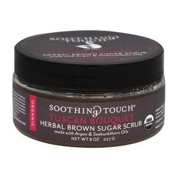 商品Soothing Touch Organic Herbal Brown Sugar Scrub, Tuscan Bouquet, 8 Oz图片