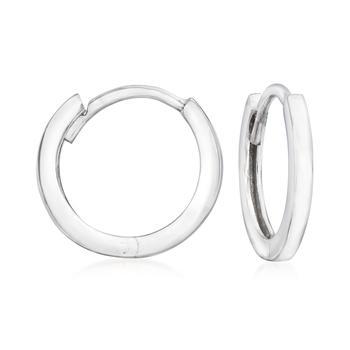 商品Ross-Simons 14kt White Gold Huggie Hoop Earrings图片