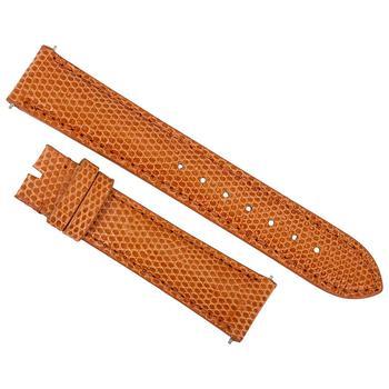 商品Hadley Roma 18 MM Shiny Orange Lizard Leather Strap图片