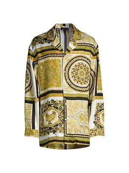 商品Mixed Print Pajama Shirt图片