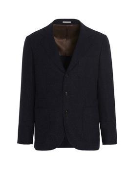 商品Brunello Cucinelli Single-Breasted Tailored Blazer - IT50 / Navy图片