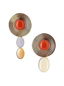 商品Sonia Gold-Plated & Multi-Stone Mismatched Clip-On Earrings图片