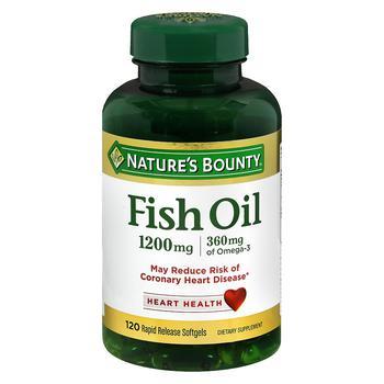 商品Fish Oil 1200 mg Dietary Supplement Softgels图片