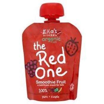 商品艾拉的厨房彩虹果泥红色 有机草莓树莓苹果香蕉泥 90g图片