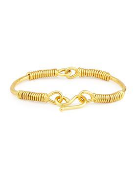 商品Spiraled 22K Yellow Gold Bracelet图片