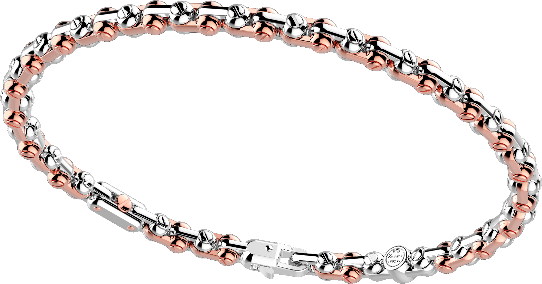 商品18k rose and white gold handmade bracelet.图片