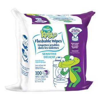 商品Pampers Kandoo Flushable Wipes For Toddlers, Sensitive Refill - 100 Ea图片