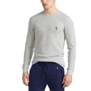 商品Men's Waffle Knit Denim Bear Logo Long-Sleeve Sleep Shirt, Created for Macy's图片
