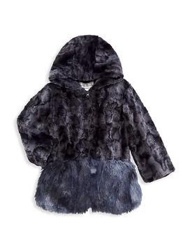 商品Little Girl's & Girl's Faux Fur Shaggy Coat图片