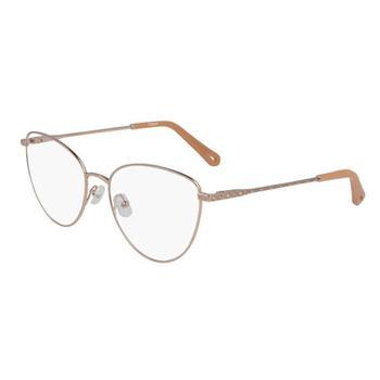 商品Chloe Unisex Gold Tone Square Eyeglass Frames CE2159 705 56图片