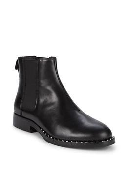 商品女式 圆头拉链 皮革 切尔西靴图片