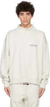 商品Grey Pullover Mock Neck Sweatshirt图片