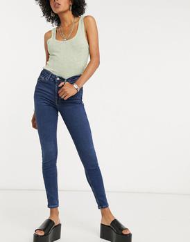 商品Topshop Jamie skinny jeans in indigo图片