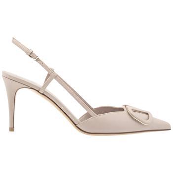 商品Valentino Ladies V-Logo Pointed Toe Slingback Sandals, Brand Size 35图片