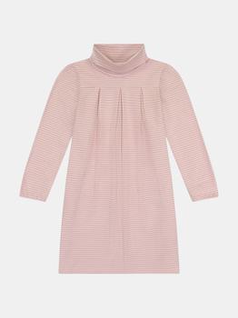 商品Suzy Girls Turtleneck Dress Rose Pink Stripe图片