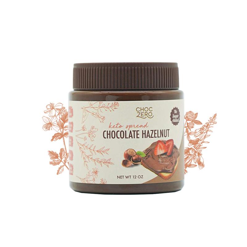 商品零巧无蔗糖巧克力榛子酱 340g/瓶 吐司酱脏脏包铜锣烧松饼烘焙原料图片