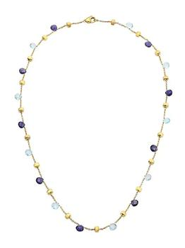 商品Paradise Blue 18K Yellow Gold, Blue Topaz & Iolite Short Station Necklace图片