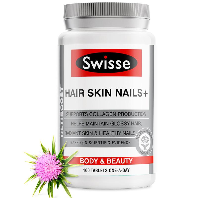 商品澳洲Swisse斯维诗护发护肤护甲片100粒促生成胶原蛋白图片