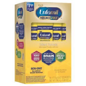 商品Enfamil NeuroPro 金樽婴儿配方奶粉 14个独立包装 246.4g图片