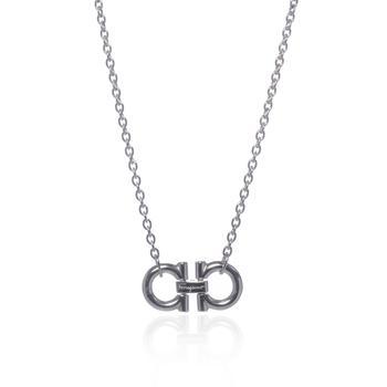 商品Ferragamo Gancini Sterling Silver Necklace 704151图片