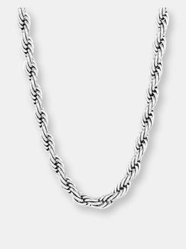 商品Crucible Men's Stainless Steel Polished Rope Chain Necklace图片