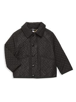 商品Little Boy's & Boy's Giaden Quilted Monogram Jacket图片