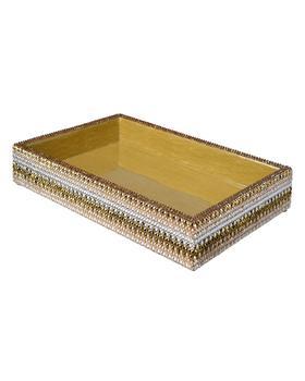 商品Biarritz Small Tray with Swarovski Crystals, Gold图片