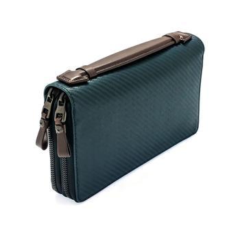 商品Dunhill Men's Navy Leather Coat Wallet L2A245N图片