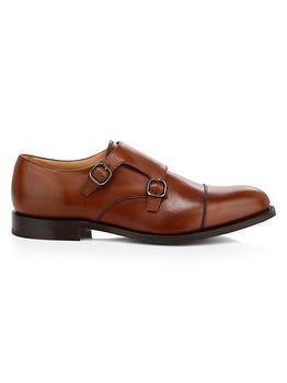 商品Detroit Monk Strap Leather Shoes图片