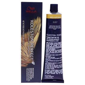 商品Koleston Perfect Permanent Creme Hair Color - 10 97 Lightest Blonde-Cendre Brown by Wella for Unisex - 2 oz Hair Color图片