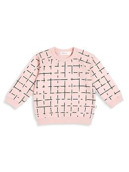商品Baby's & Little Girl's Grid-Print Stretch Cotton Sweatshirt图片