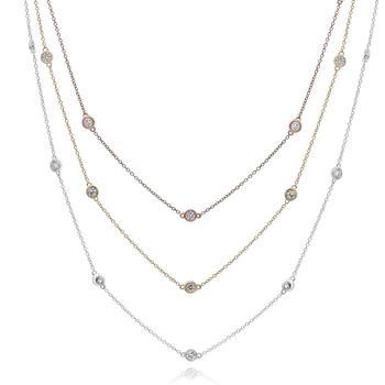 商品Diana M 14K White Gold 2.1 Carats Necklace图片