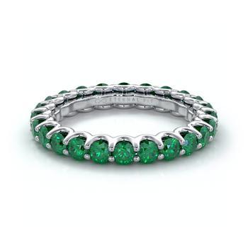 商品The Eternal Fit 14K 2.53 ct. tw. Emerald Eternity Ring图片