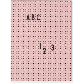 商品Design Letters A4 Message Board - Pink图片