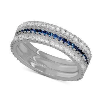 商品Sapphire Crystal Band Ring in Silver-Plate图片